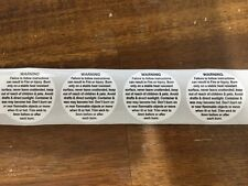 100 X 3cm Candle Warning Labels - FREE POSTAGE!