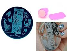 Nail Art Manicure Stencil Image Plate Stainless Steel Stamping Template Kit BP04