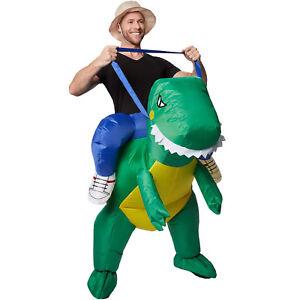 Costume autogonfiabile con dinosauro unisex costume carnevale donna uomo parito