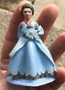 "Vintage Blue Dress Bride Cake Topper #1 Made In Hong Kong 3 X 2 1/2"""