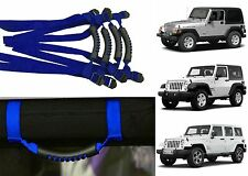 4pc Blue Roll Bar Grab Handles For 1995-2017 Jeep Wrangler New Free Shipping USA