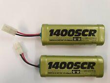 2x Vintage Tamiya 1400SCR 7.2v Nicad Battery Packs For Display Or Use Still Work