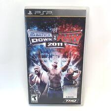 WWE SmackDown vs. Raw 2011 (Sony PSP, 2010) Complete CIB W/ Manual