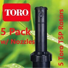 "5 Pack Toro T5P 5"" Adjustable Sprinkler Rotor & Nozzles"