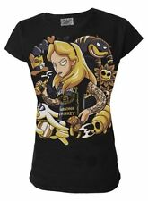 Regular Size Gothic 100% Cotton T-Shirts for Women