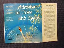 1950s ADVENTURES IN TIME AND SPACE DUST JACKET ONLY VG 4.0 Random House