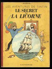 TINTIN   LE SECRET DE LA LICORNE  4ème plat B1 1947  HERGÉ  CASTERMAN