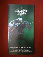 2020 Belmont Stakes Program Horse Racing Collectible Ny Bred Winner Tiz the Law