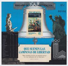 Nicaragua Block 119 Alphabetisierungskampagne; Olympic Summer Games 1980