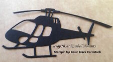 • • • Die Cuts ~ 'HELICOPTER' x5 ~ Black ~ Stampin' Up Card Stock ~ Cards