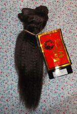 "HUMAN HAIR weft 10"" LONG  color #4 Brunette. JAZZ WAVE extensions & Dolls"
