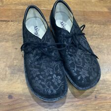 Alegria Women's Bree Stroll Black Lace Up Shoes Casual/Work Size EUR 40 (10) EUC