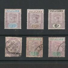 ZULULAND / SOUTH AFRICA 1890s MINT & USED QUEEN VICTORIA STAMPS TO 6d