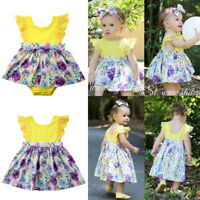 Infant Toddler Baby Girl Little Big Sister Matching Clothes Romper T-shirt Dress
