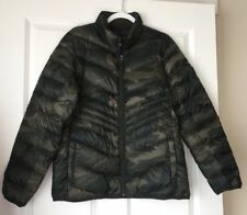NWT Abercrombie & Fitch Women's Camo Packable Down Puffer Jacket S $120