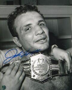Jake LaMotta Raging Bull Autographed 8 X 10 Photo COA Pro Boxer Greatest Chin