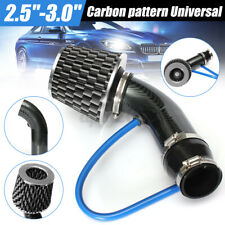 Carbon pattern 2.5''-3.0'' Universal Cold Air Intake Hose Pipe kit System Filter