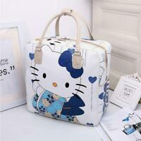 Women Girl's Hello Kitty Kimono Handbag Travel Luggage Bag Large Capacity Tote