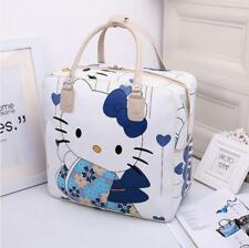 Women's Hello Kitty Pu Leather Handbag Travel Luggage Bag Large Capacity Tote