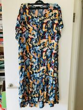 MONKI cute multi-coloured cat print long dress WORN ONCE SMALL