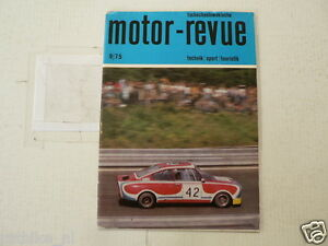 MOTOR-REVUE 1975-09 SKODA 130 RS BRNO,JAWA TREFFEN LENINGRAD,125 JAHRE TATRA,PAL