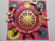 Alex and Ani Coral Spearhead Beaded Bangle Bracelet Shiny Rose NWTBC
