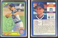 Greg Smith Signed 1990 Score #614 RC Card Chicago Cubs Auto Autograph