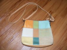 FOSSIL Patchwork Leather Crossbody Purse Bag  FREE SHIPPING