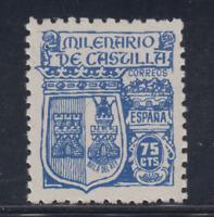 ESPAÑA (1944) NUEVO SIN FIJASELLOS MNH SPAIN -EDIFIL 976 (75 cts) CASTILLA LOTE3
