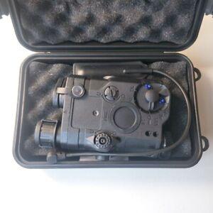UK LED White Light FMA PEQ-15 Upgrade Version Box + Red Laser Airsoft w/ IR Lens