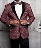 Men Insomnia Manzini Blazer Stage Performer Singer Prom MZN138 Burgundy Lace new