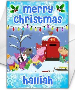 PEPPA PIG Personalised Christmas Card - Peppa Pig Christmas Card