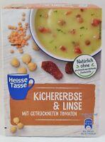 Erasco Heisse Tasse 3 Beutel  Kichererbse und Linse mit getrockneten Tomaten
