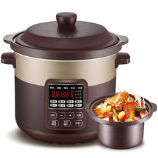 Electric Stew Pot Ceramic Slow Cooker White ware 4L Removable Inner Pot