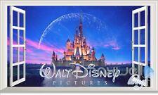Disney Castle Meteor Star 3D Window Wall decor Stickers Kids Nursery Décor Gift