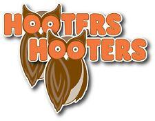 2X HOOTERS DECAL STICKER 3M USA MADE TRUCK VEHICLE CAR RESTAURANT OWL BAR SEXY