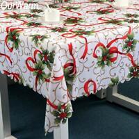 Christmas Santa Tablecloth Xmas Table Runner Printing Red Home Xmas Table Decor