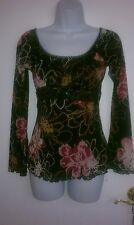 Ladies Long Sleeve Blouse Size Small By Self Esteem