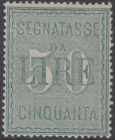 ITALY Regno - Tax high value - Sass. n.15 cv 360$ Perfect centered  MH*