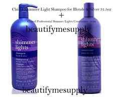 Clairol Shimmer Lights Shampoo  31.5oz +16 oz conditioner Blonde & Silver