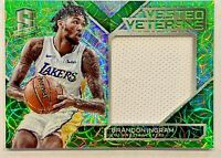 Brandon Ingram 2017-18 Panini Spectra Vested Veterans Jersey Green Prizm 1/25 🔥