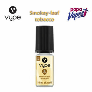 VYPE E-LIQUID   SMOKEY LEAF TOBACCO    VAPE JUICE   3MG 18MG  10ML E-LIQUID