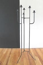 """Mid Century Modernist Design 6 Arm Steel Floor Candelabrum ala Umanoff 42"""" Tall"""