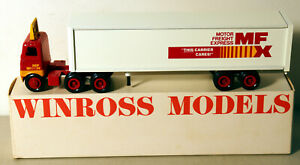 DTE OLD WINROSS WHITE MFX MOTOR FREIGHT XPRESS TRACTOR TRAILER TRUCK NIOB