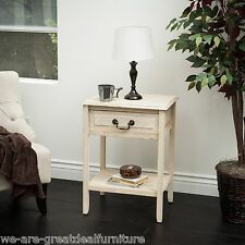 Reclaimed Wood Top Drawer Accent Table