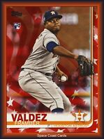 Framber Valdez 2019 Topps Series 2 INDEPENDENCE DAY PARALLEL Rookie #376 /76