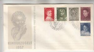 Netherlands Kinderzegels 1957 First Day Cover