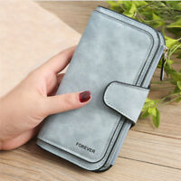 Zipper Wallet Vintage Coin Purse Simple High Quality PU Long Frosted Card Holder