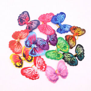 Spring Pet Puppy Dog Hair Bows Bright Butterfly Dog Bow Dog Grooming Accessories