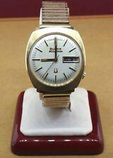 Vintage Men's Bulova Accutron  14k Solid Yellow Gold Quartz Rare Watch